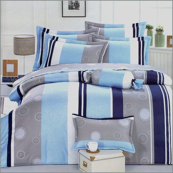 【免運】精梳棉 雙人特大 薄床包被套組 台灣精製 ~摩登線條~
