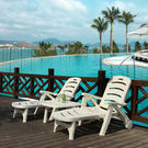 庭院酒店浴場躺椅沙灘躺椅塑料躺椅遊泳池躺沙灘椅戶外躺椅遊泳椅 限時降價