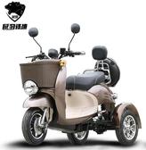(鉛酸電池)小龜王電動三輪車代步車接送孩子電動成人車小型電瓶三輪車 萬客居
