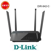 D-Link 友訊 DIR-842-C AC1200雙頻Gigabit無線路由器 5dBi 高增益天線 無線路由器 公司貨