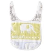 5條裝嬰兒圍嘴純棉紗布寶寶口水巾6層紗布雙按扣新生兒圍兜四季款