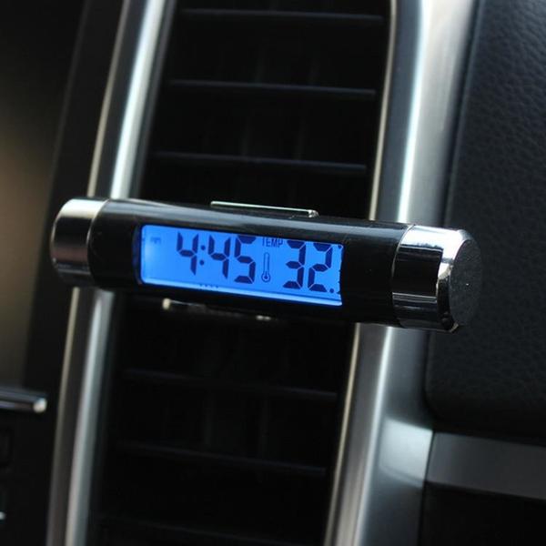車載時鐘 汽車用車內高精度電子數字出風口溫度計時間顯示器夜光車載時鐘表 米家