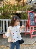 女童襯衫藍小爸童裝女童襯衫2020新款春裝兒童襯衣寶寶彩色波點娃娃衫上衣 1件免運