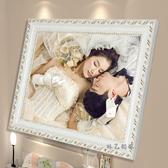 歐式實木相框10寸12寸A4婚紗照片框擺台掛牆定制畫框【快速出貨】
