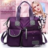 手提包 2021新款歐美時尚女士媽咪包尼龍單肩手提旅行大包 16【快速出貨】