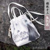 蕾絲布包中國復古風包袋流蘇