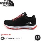 【The North Face 女 FL 防水健行鞋《黑粉/橘》】4OA6/防水透氣野跑鞋/慢跑鞋/健行鞋