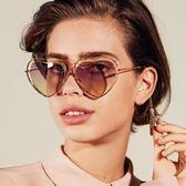 Chloe墨鏡 摩登前衛 簍空金屬心型框 CE131S 239 玳瑁金 粉鏡片 太陽眼鏡 久必大眼鏡