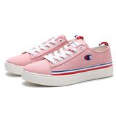 CHAMPION 休閒鞋 粉紅 白藍紅條紋 帆布鞋 女 (布魯克林) 912220166