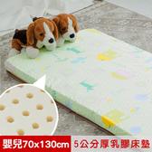 【米夢家居】夢想家園-冬夏兩用天然乳膠嬰兒床墊-青春綠(70X130)