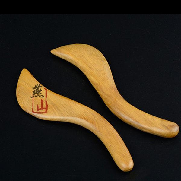 木質刮痧刀 刮痧片 實木製 木質按摩器 S形刮痧板 保健器材 孝親 【PQ 美妝】