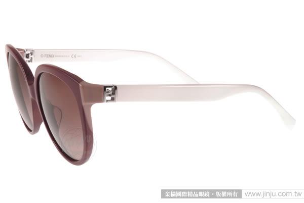 FENDI 太陽眼鏡 FS0144FS MFZJ6 (深紅-白) 簡約唯美百搭貓眼款 # 金橘眼鏡