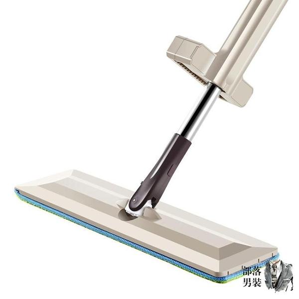 地板擦 免手洗平板拖把木地板旋轉免沾手拆洗拖布擦自動懶人平板拖把墩布T