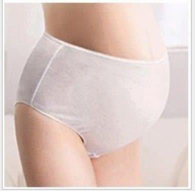 *漂亮小媽咪*月子必備 麗子 棉質免洗褲 產婦型 孕婦高腰款免洗內褲 5入 U0031PINK