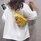 小熊帆布包包女2020新款潮可愛學生胸包ins網紅百搭側背斜背腰包 潮人