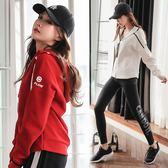 韓國健身服女秋冬晨跑長袖瑜伽服寬鬆顯瘦速干健身房跑步運動套裝