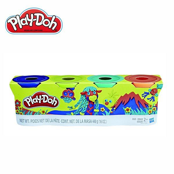Play-Doh培樂多-黏土補充罐四色組-長頸鹿