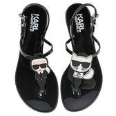 Karl Lagerfeld鞋 JELLY Q版夾腳涼鞋-黑