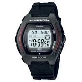 【CASIO】 潮流科幻電子錶-黑(HDD-600-1A)