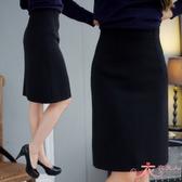 OL上班/面試/專題/制服/套裝/正式服飾*簡約風格素面及膝裙(二色)M-2L【MY1057】衣衣夫人OL服飾店