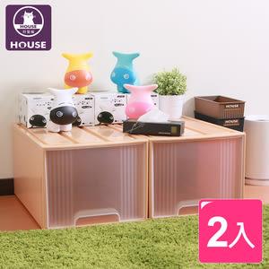 【HOUSE】大桔子置物箱65L(2入)