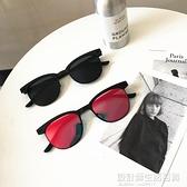 韓國百搭經典男士墨鏡簡約歐美復古風潮男方形鏡男女同款眼鏡 設計師生活百貨