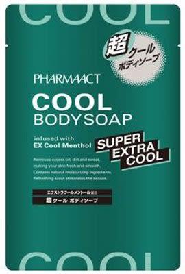 日本 熊野 PHARMAACT 超酷涼沐浴乳補充包 350ml 【5387】