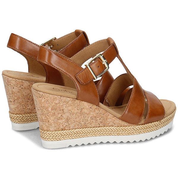 【超低價】GABOR 歐美簍空楔型涼鞋 棕褐 62.793.24 女鞋