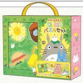 【拼圖總動員 PUZZLE STORY】龍貓兒童拼圖組合 日本進口拼圖/Ensky/吉卜力/4+9+10+12P/四片一組