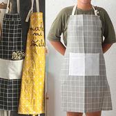 簡約風棉麻圍裙-3色可選