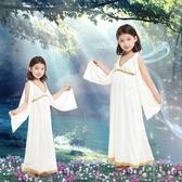 聖誕節兒童雅典娜服裝典雅衣服希臘女神公主服飾cosplay埃及女童 電購3C