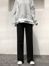 運動褲女寬松直筒毛圈棉休閑闊腿褲2019新款高腰垂感褲子拖地衛褲