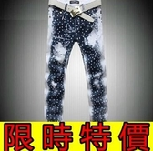 牛仔褲-創意典型單寧男休閒長褲59i22【巴黎精品】