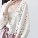 防曬服 2020夏季新款小清新少女心白色鏤空刺繡披肩蕾絲防曬衣外搭小開衫