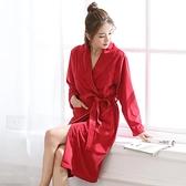 浴衣 睡袍女秋冬季加厚珊瑚絨男士睡衣冬天加長款浴衣法蘭絨情侶浴袍