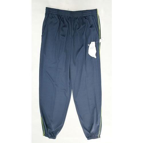 【MIT】台灣製造工作運動褲【6918-1-M】 束口褲管-藍色 側邊螢光綠線●夏季限定≡輕薄【 守門員】