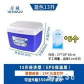 13L保溫箱冷藏箱家用車載戶外冰箱外賣便攜保冷保鮮釣魚大號冰桶WL372【科炫3C】