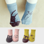 韓國動物派對不對稱兒童止滑短襪 童襪 止滑襪