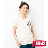 CHUMS Booby Hang On 女短袖T恤 米色-CH111505W003
