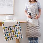 日式棉麻圍裙夏季防油做飯圍腰家用廚房成人女士時尚無袖罩衣薄款 晴天時尚館