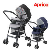 Aprica 愛普力卡 Karoon Air 輕量平躺型雙向嬰兒車 (黑/藍)