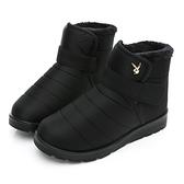 PLAYBOY 冬日暖感 防潑水短筒機能雪靴-黑(Y6765)