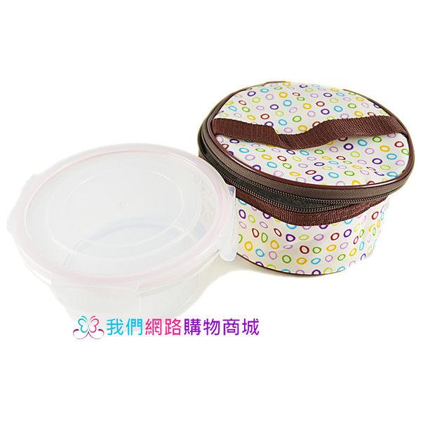 【我們網路購物商城】密扣圓型玻璃保鮮盒+提袋組合-700ml 保鮮盒 便當盒 保溫袋