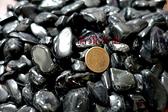 『晶鑽水晶』正統巴西黑碧璽粒 滾石~鏡面光澤~又黑釉亮*中大型 300公克裝