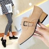 牛津鞋 英倫風小皮鞋女春季韓版原宿休閒鞋學院粗跟單鞋 歌莉婭