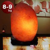 【鹽夢工場】天然精選玫瑰鹽燈(8-9kg|特製座)