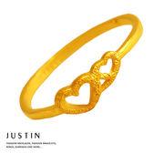 Justin金緻品 黃金女尾戒 金色甜蜜 金飾 黃金戒指 愛心造型 9999純金女戒子