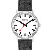 MONDAINE 瑞士國鐵Classic腕錶-36mm/銀灰 660416BH