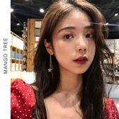 耳環   顯臉瘦的長款星星流蘇耳釘氣質簡約可調節鏈條耳環E263
