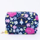 Hamee 日本正版 迪士尼 皮革 秘密花園 全開 化妝包 相機包 隨身包 萬用收納包 愛麗絲 (藍) FT45312